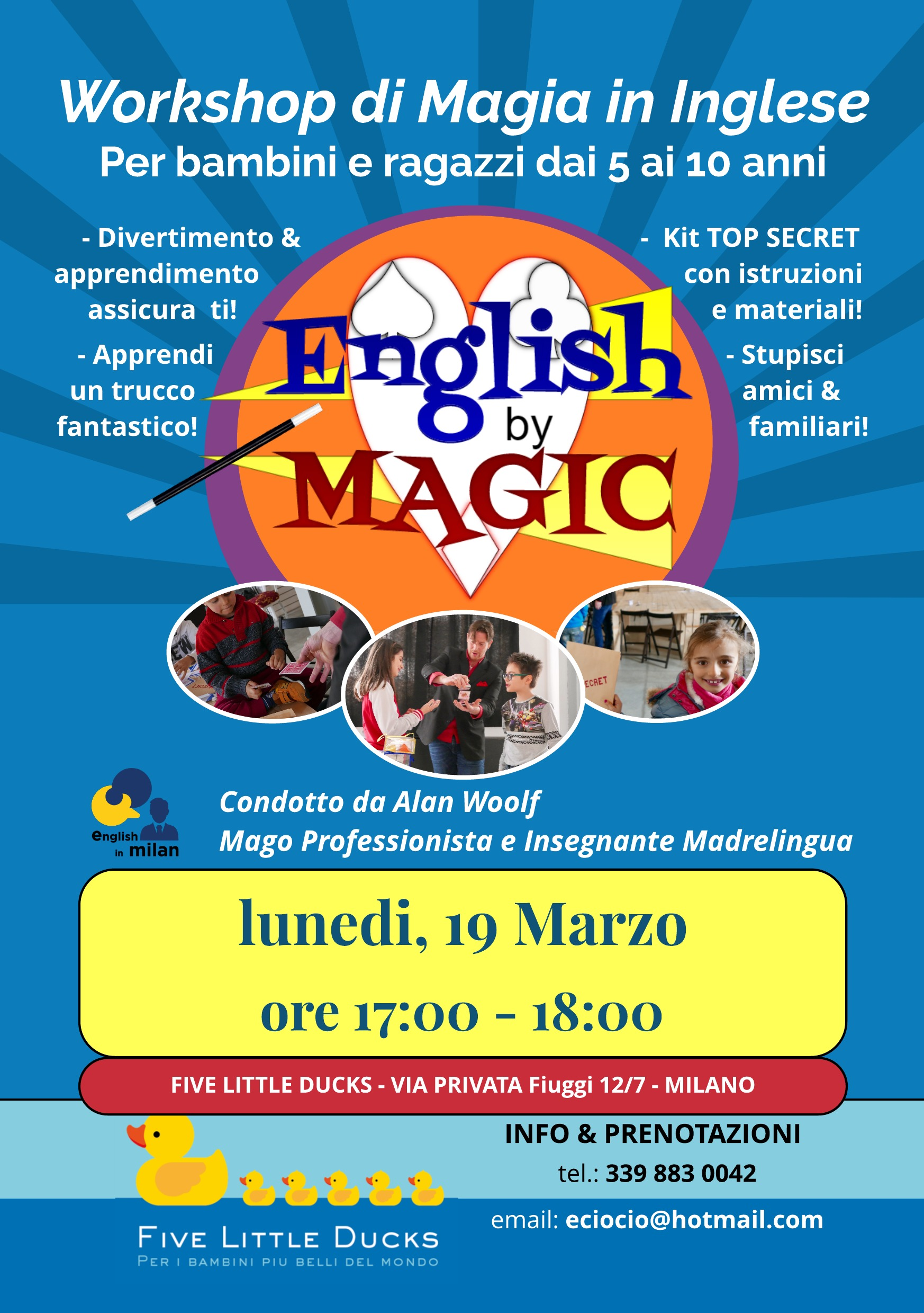 Workshop di Magia in Inglese